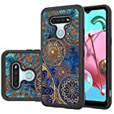LEEGU for LG K51 Case, LG Reflect Case, LG Q51 Case, Shock Absorption Dual Layer Heavy Duty Protective Silicone Plastic Cover Rugged Phone Case for LG K51 - Gear Wheel