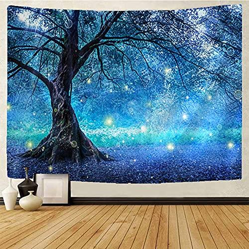 PPOU Tapiz de Bosque de sueños Dreamland Mandala Tapiz Hippie Bohemio Tapiz para Colgar en la Pared Manta A2 100x150cm