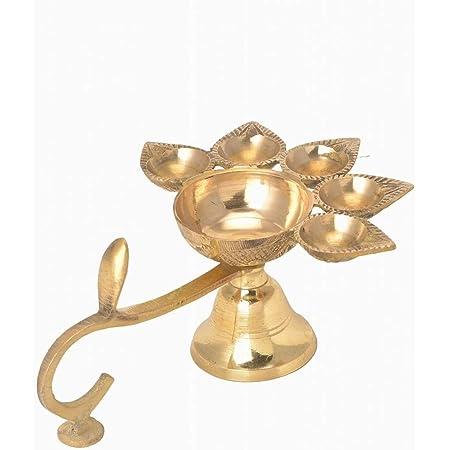 Pooja Articles Puja Spoon Brass Panchmukhi Nag Head Pooja Diya Pooja Lamp Oil Lamp Puja Deepak Diya Deepak Deepam Home Decor Pooja Diya eSplanade
