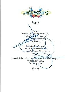 Neal Schon & Jonathan Cain Signed Autograph Journey LIGHTS Lyric Sheet COA