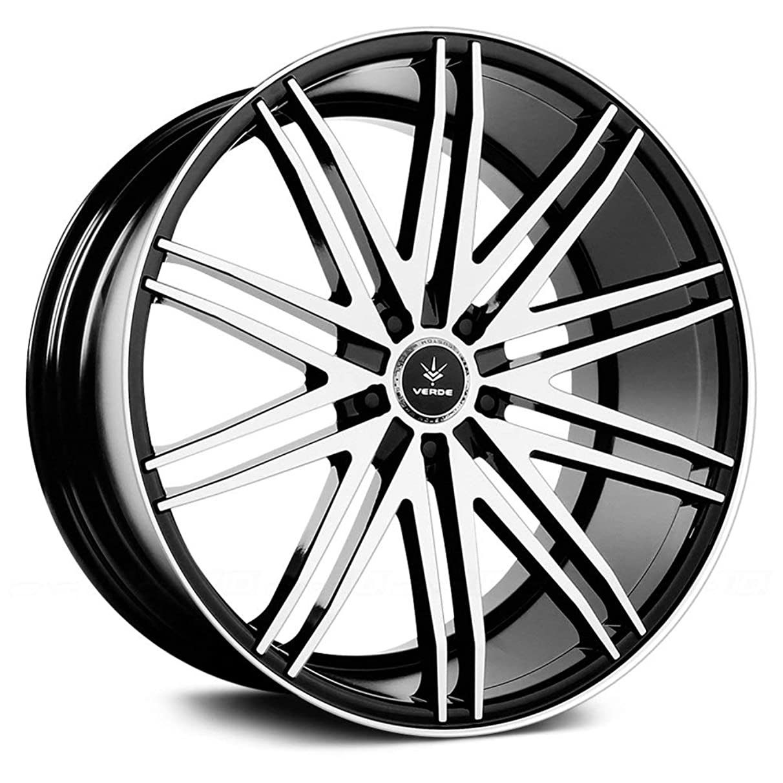 Verde Custom Wheels Impulse Gloss Black Wheel with Machined Spoke and Lip (22x10.5