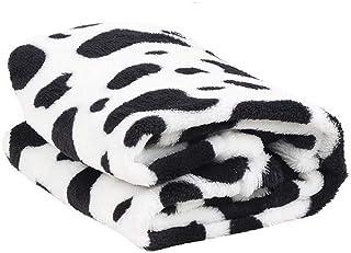 ROIY Suministros For Mascotas Manta For Perros Fleece Coral Manta Cálida Edredón De Moda Four Seasons Universal Black Poin...