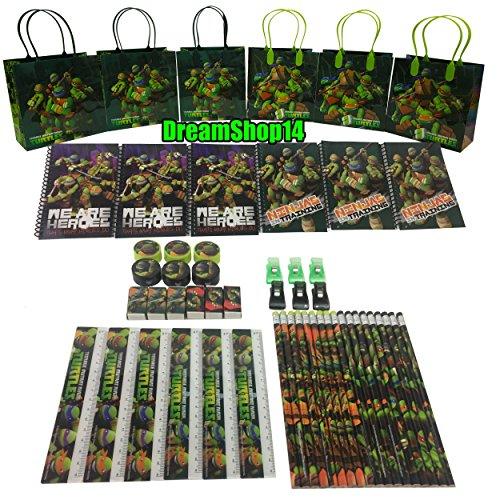 Dreamshop14 Teenage Mutant Ninja Turtles Goody Bag Party Favor Stationery (54pc)