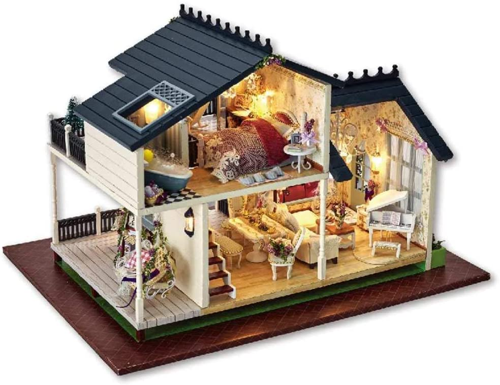 ZFCMIAO Wooden DIY Discount mail order Regular store Toy Doll Hand-Assembled House Model Ho