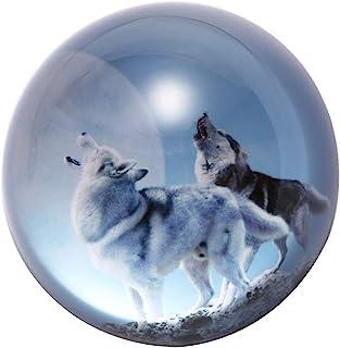 جراب HUR كريستال الذئب ورق زجاج نصف الكرة الأرضية من زجاج كليبر لوازم المكتب الديكور الإبداعي