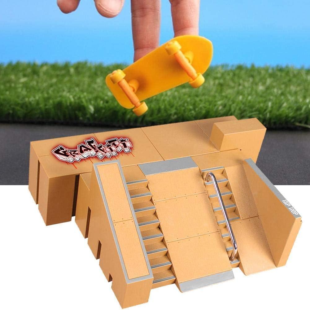 Hilai Finger-Skateboard-Park Kit Mini Finger Skate Park Kit Ramp Teile mit Finger Boards f/ür Finger Skateboard Ultimative Parks Trainings Props Style-8091b 1set Skateboards