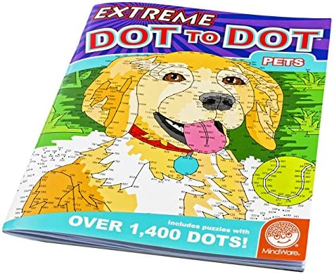 MindWare Extreme Dot to Dot Coloring Pets product image