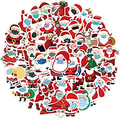 Amazon - Save 50%: 50Pcs Christmas Stickers, Vinyl Waterproof Santa Snowflake Stickers for Ki…