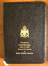 HOLMAN BIBLE NO. 40M MASONIC EDITION TEMPLE ILLUSTRATED (IN BOX)