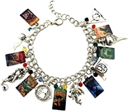 Mainstreet247 کتابهای هری پاتر و لوگو Charm Metal Novelty Charm دستبند
