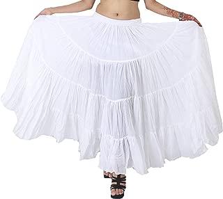 Women's Belly Dance Cotton 12 Yard Skirt
