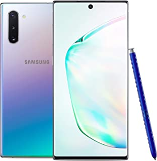 Samsung Galaxy Note 10 Factory Unlocked Cell Phone with 256GB (U.S. Warranty), Aura Glow (Silver) Note10 (Renewed)