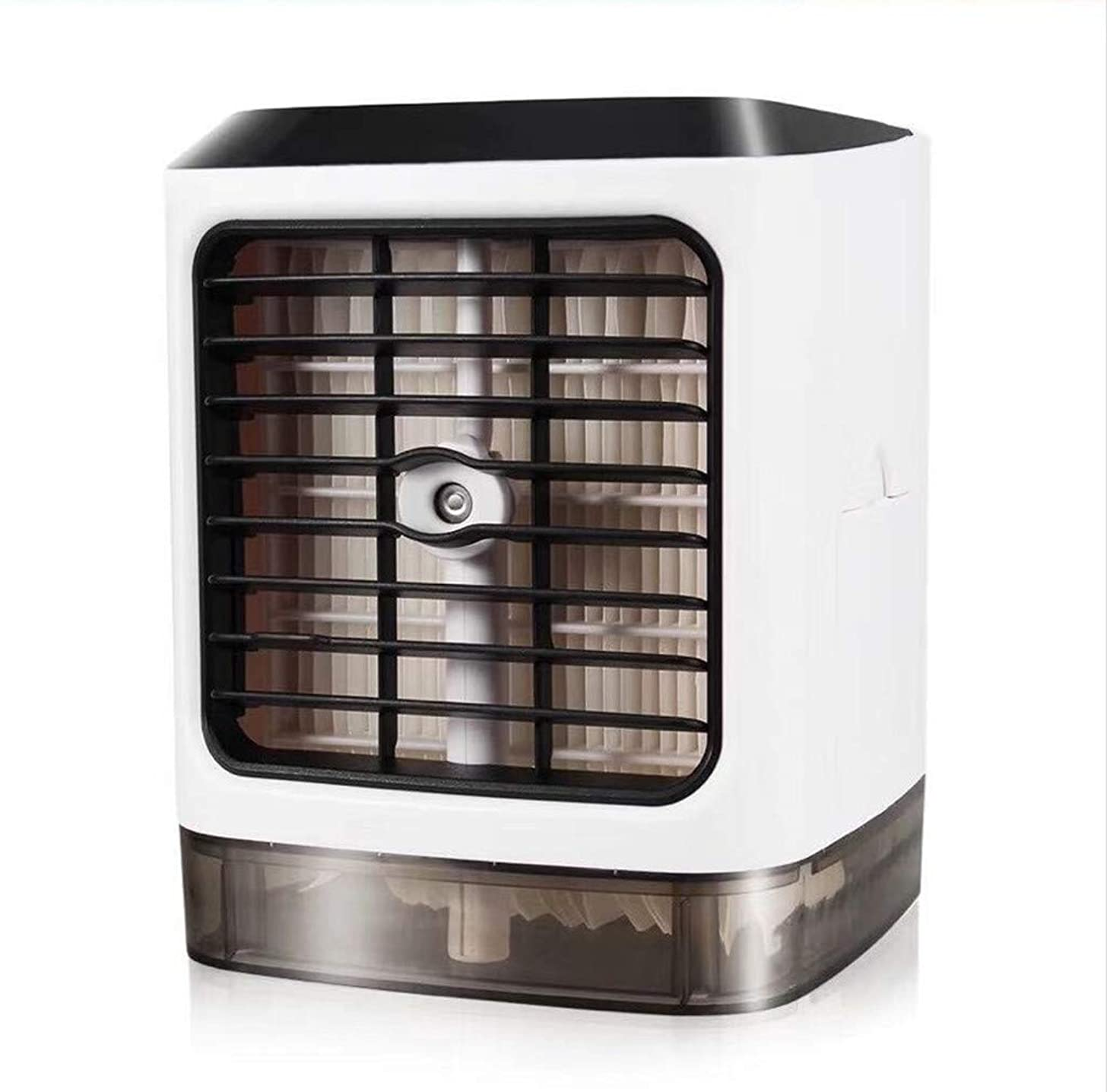 Transser Personal Air Conditioner,USB Mini Portable Air Conditioner Humidifier Air Cooler Upgraded Mute Night Light 8-12 Degrees for Home/Office/Outdoor/Sleep