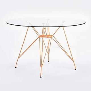 Table Verre Eiffel 120cm Rouille
