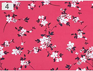 1m Pink Viscose Fabric Flowers, Dress, and Polyester, Fabrics