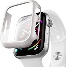 pzoz Compatible Apple Watch Series 6 /5 /4 /SE 44mm Case with Screen Protector Accessories Slim Guard Thin Bumper Full Cov...