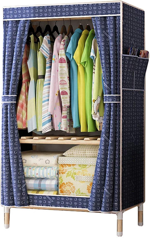 Simple wardrobe Simple wardrobe 170  60  45cm Solid Wood Oxford Cloth Cabinet Folding disassembly Portable Wardrobe (color   C)