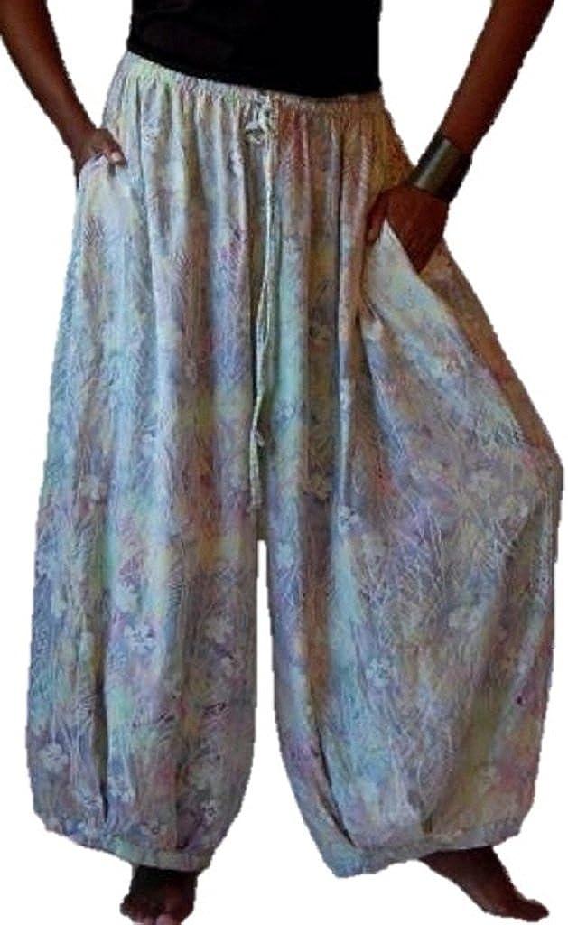 LOTUSTRADERS Pants Gauchos Pockets Lagenlook Bali Batik B292