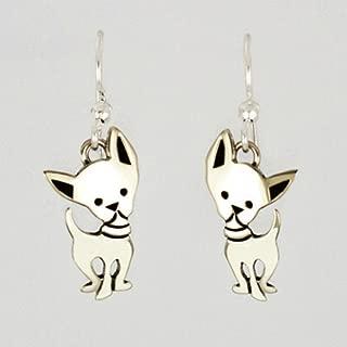 Chi-wa-wa Chiwawa Earrings Silver Dog Puppy Wire Far Fetched Mima & Oly