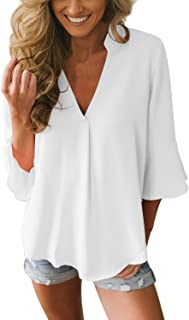 promo code 51c2c 8801b Amazon.it: Bianco - Bluse e camicie / T-shirt, top e bluse ...