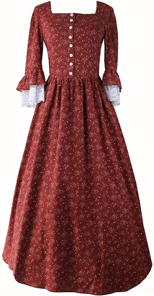Re-Lady Women Vintage Floral Victorian Ren Ranking Max 80% OFF TOP2 Medieval Rococo Dress
