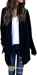 FISACE Women's Loose Fit Long Sleeve Knitted Cardigan Sweaters Outerwear