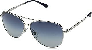 Ralph by Ralph Lauren Women's 0ra4125 Aviator Sunglasses Silver 59.0 mm