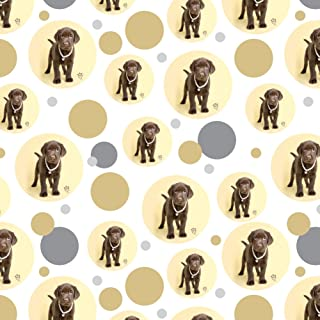 GRAPHICS & MORE Chocolate Lab Labrador Puppy Dog Crown Necklace Premium Gift Wrap Wrapping Paper Roll