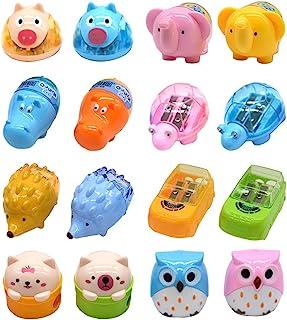 Temperamatite di animali del fumetto, Temperamatite di plastica carino a due fori, Forniture di cancelleria per studenti s...