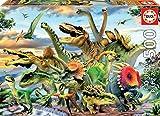 Educa Borras - Genuine Puzzles, Puzzle 500 piezas, Dinousaurios (17961)