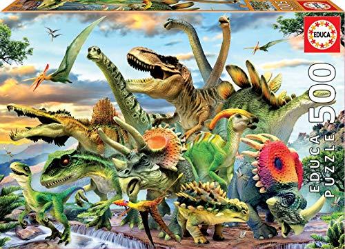 Educa Borras - Genuine Puzzles, Puzzle 500 piezas, Dinousaur