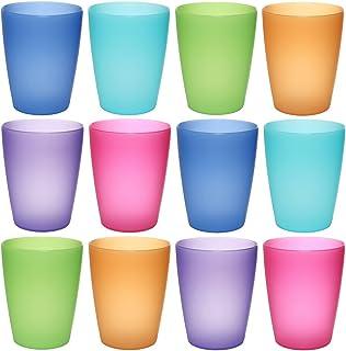 idea-station Neo Vasos plástico 12 Piezas, 250 ml, Colorido