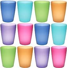 idea-station NEO Kunststoff-Becher 12 Stück, 250 ml, bunt, farbig, mehrweg, bruchsicher, stapelbar, Party-Becher, Plastik-Becher, Mehrweg-Becher, Wasser-Gläser, Trink-Gläser