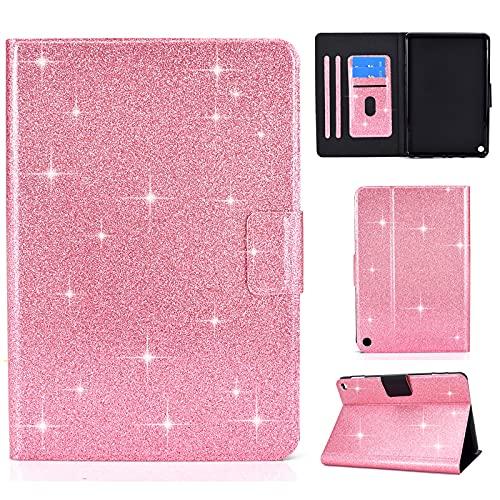 Billionn Funda para tablet Kindle Fire HD 10 y HD 10 Plus (11ª generación, 2021), con función de encendido y apagado automático, color rosa