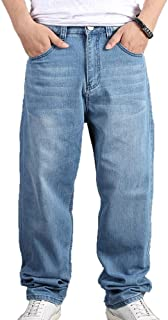 worclub Pantalone da Skate da Uomo in Denim con Pantaloni da Ballo Denim Street