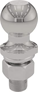 CURT 40081 Stainless Steel Trailer Hitch Ball, 3,500 lbs., 1-7/8-Inch Diameter Tow Ball with 1-Inch x 2-1/8-Inch Shank