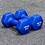 METIS Neopren Hex Hanteln Set - Verschiedene Größe | 0,5kg -10kg | Kurzhanteln zu Hause (6kg)