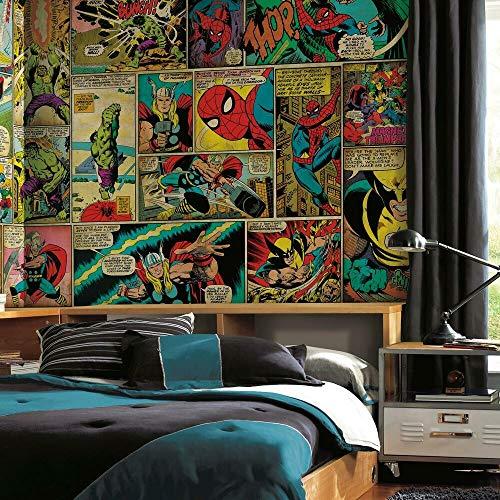 RoomMates JL1290M Marvel Classics Comic Panel Spray and...