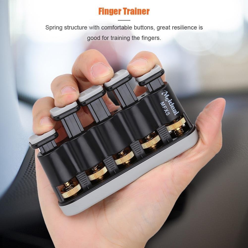 Dilwe Finger Exerciser Finger Trainer Variable Hand Finger Strength Tension Exerciser Grip for Piano Guitar