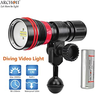 ARCHON W32R D26VR underwater spotlight 8 White CREE XP-G2 R5 LED Scuba Diving video torch dive flashlight with battery charger