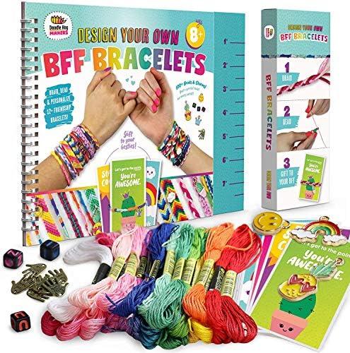 Friendship Bracelet Making Kit Huge Value Letter Beads Crafts For Girls 20 Multi Color Embroidery product image
