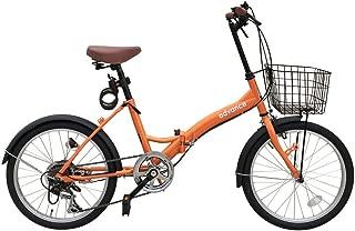 advance 折りたたみ自転車 20インチ カゴ 6段変速 ◯206-2