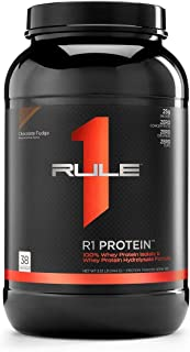 Sponsored Ad - R1 Protein Whey Isolate/Hydrolysate, Rule 1 Proteins (38 Servings, Chocolate Fudge)