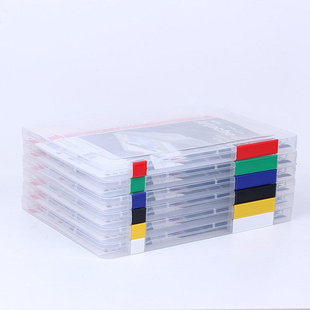 Caja de archivadores A4 con hebillas de plástico transparente para suministros de oficina, organizador de papel, organizador de almacenamiento, contenedor, revistas, organizadores de color al azar: Amazon.es: Oficina y papelería