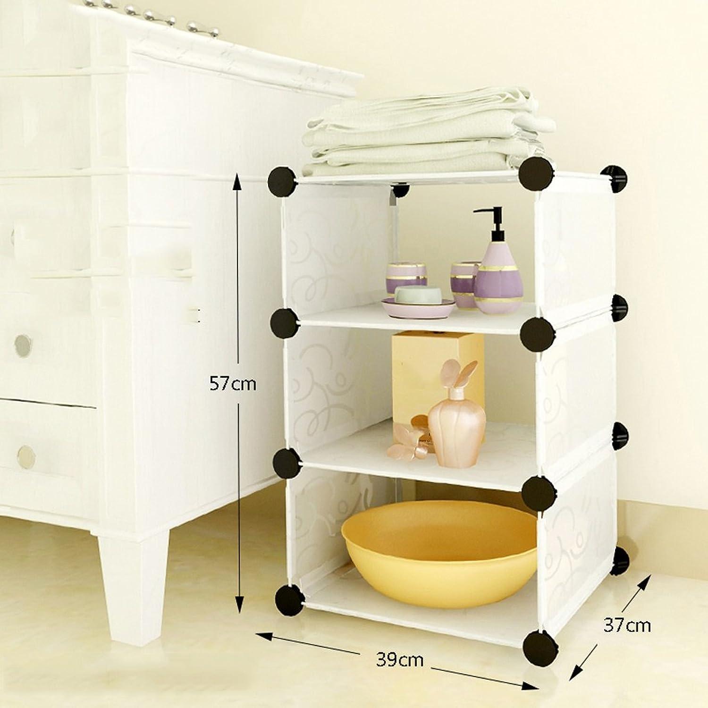 White Bathroom Shelves Washbasin Shelf Plastic Storage Shelves Separate The Finishing Frame (color   D)