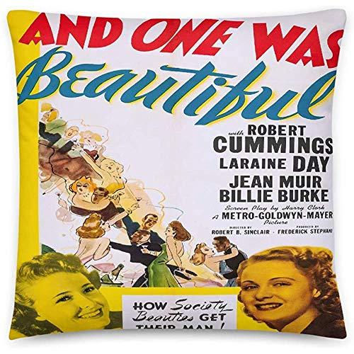 GodYo Vintage poster - en één was mooi 0283 - vierkante kussensloop vulling - 18 x 18