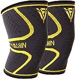 Sport Kniebandagen für Elastische Knie Kompression - Ideal für Gewichtheben, Crossfit, Wandern,...