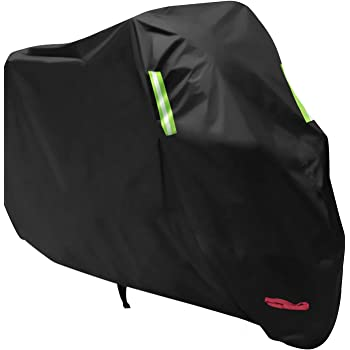 Anglink Waterproof Motorcycle Cover, All Weather Outdoor Protection, 210D Oxford Durable and Tear Proof for 104 inches XXL Motorcycles Like Honda, Yamaha, Suzuki, Harley and More