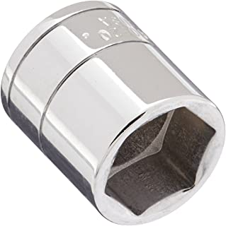 SK Professional Tools 40920 1/4 in. Drive 6-Point Metric Standard Chrome Socket - 5/8 in, Cold Forged Steel Socket with SuperKrome Finish, Made in USA
