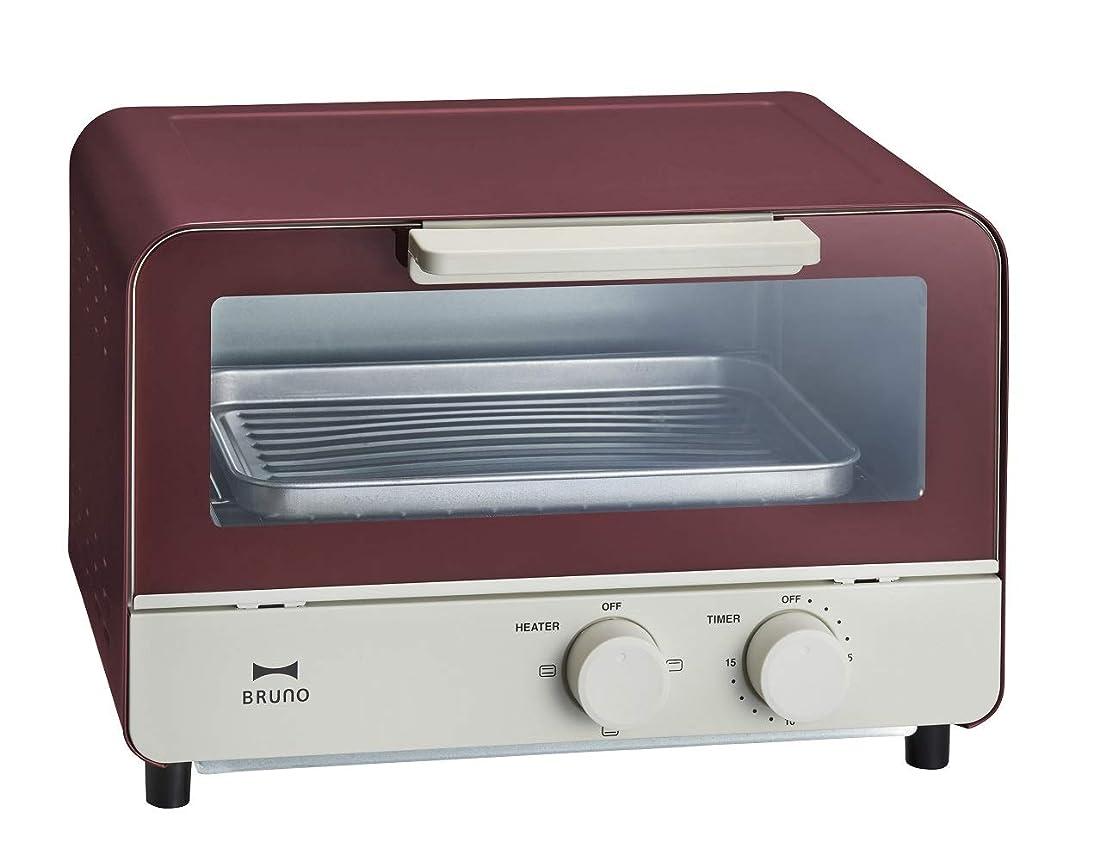 自分盲目事件、出来事BRUNO ブルーノ オーブントースター 2枚焼き おしゃれ 北欧 BOE052 (レッド)